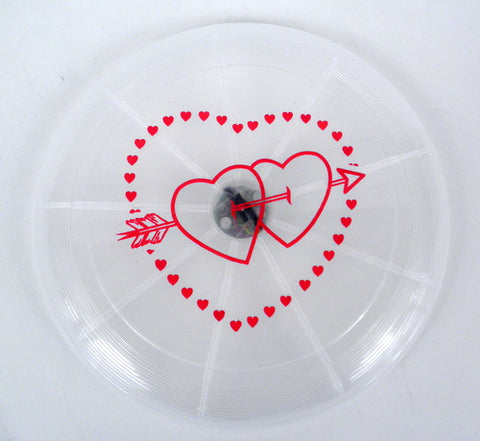 LED Frisbee with Red Heart Logo (Each)