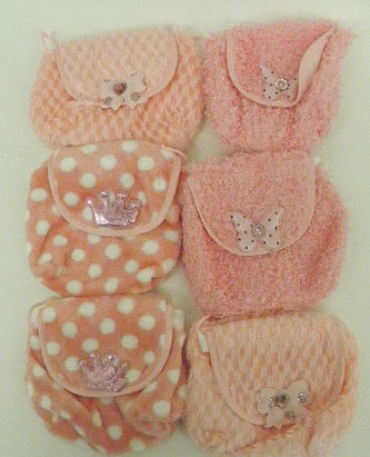 Pink Assorted Purses (6 Piece)