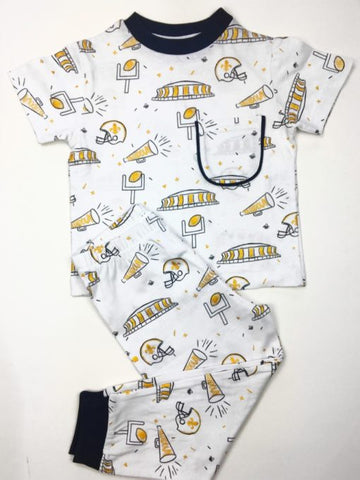 Black & Gold Saints Organic Pajamas (Each)