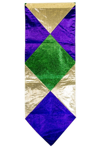 "Mardi Gras Table Runner 13"" x 6' (Each)"