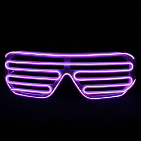 El Wire Purple Shutter Sunglasses (Each)