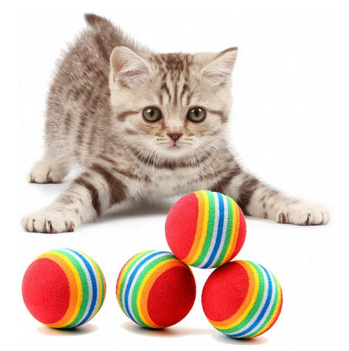 Cat and Dog Rainbow Play Balls - bcool pets