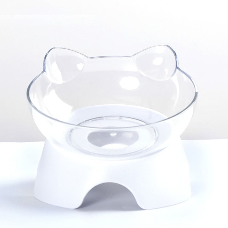 Anti-vomiting Orthopedic Raised Cat Bowl Feeder - bcool pets