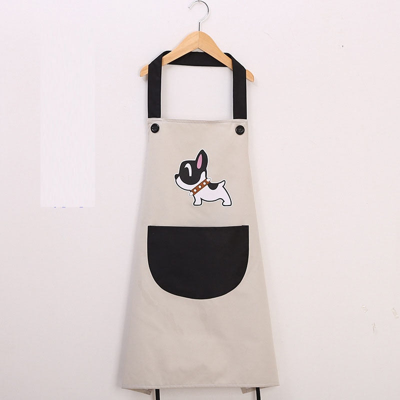 1-Pocket Waterproof and Oil-proof Kitchen Cooking Apron for Dog Lovers - bcool pets