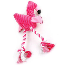 Load image into Gallery viewer, Pink Flamingo Chewing Toy for Dogs and Cats - bcool pets