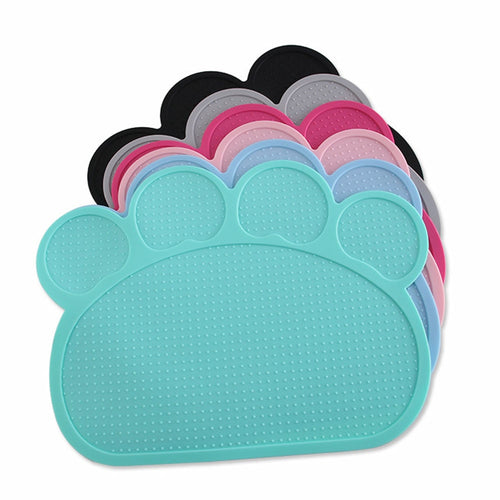 Waterproof Easy Wash Paw Silicone Cat and Dog Feeding Mat - bcool pets