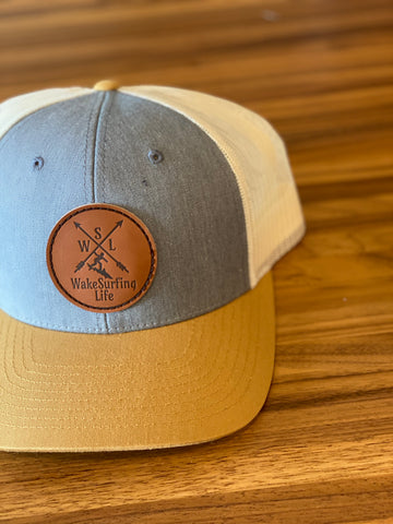 Wakesurfing Life Leather Patch Hat - WakeSurfing Life
