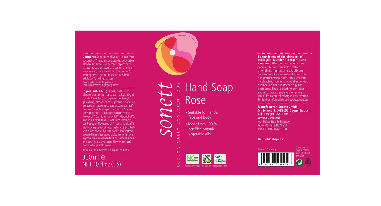 Hand Soap Rose (10 fl.oz/300 ml)
