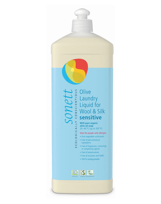 Olive Laundry Liquid for Wool and Silk Sensitive (35 fl. oz/1L)
