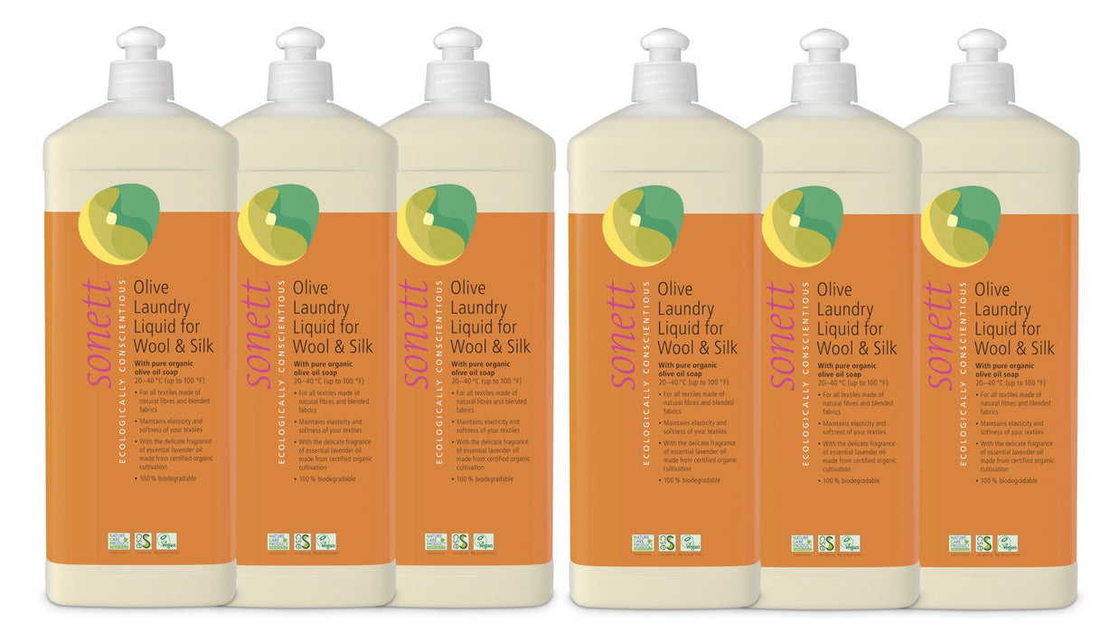 Olive Laundry Liquid  for Wool and Silk 35 fl. oz/ 1L