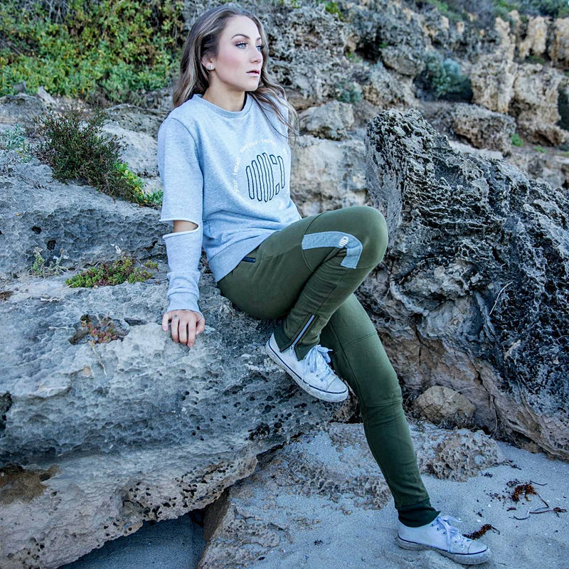 Ladies' 'All Day' Sweater - Heather Grey