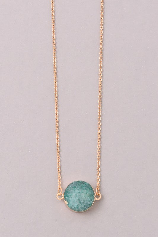 Eliza Aqua Necklace