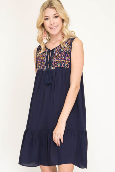 Jodie Embroidered Dress
