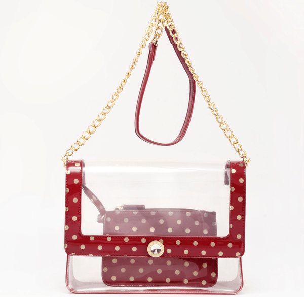 Chrissy Clear Medium SCORE!™ Cross-Body Stadium Compliant Bag