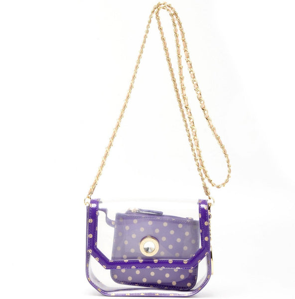 Chrissy Clear Small SCORE!™ Cross-Body Stadium Compliant Bag