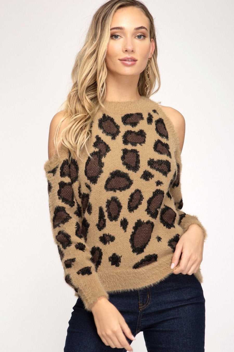 Coco Cold Shoulder Sweater