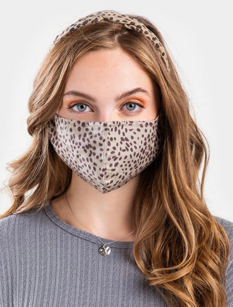 Always Covered Leopard Face Mask
