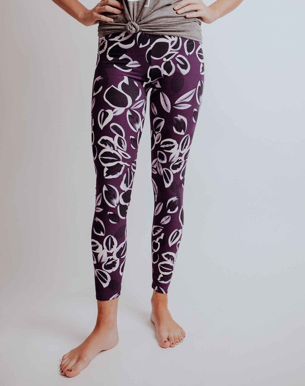 Purple Lotus Leggings