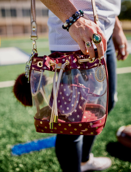 Sarah Jean Clear SCORE!™ Stadium Compliant Bucket Bag
