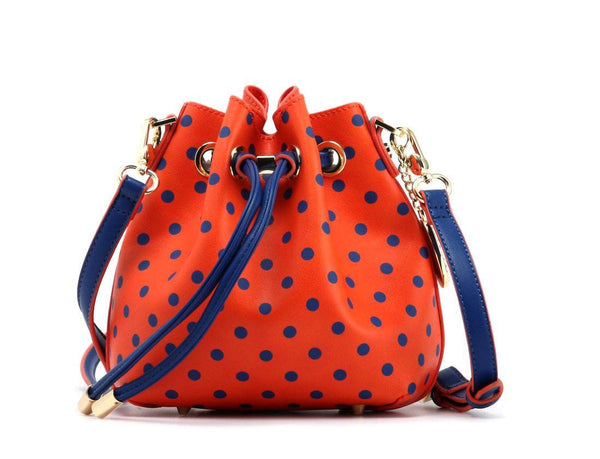 Sarah Jean Small Polka Dot SCORE!™ Game Day Bucket Handbag