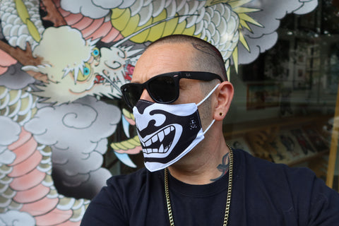 Face Mask with Hannya smile
