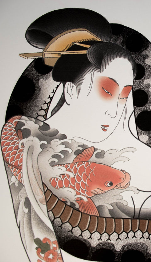 Shunga, limited edition print by Crez
