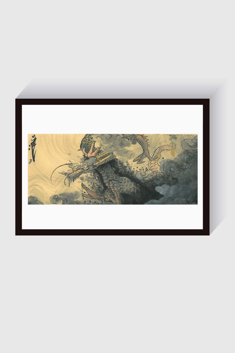 Dragon, original painting by Crez