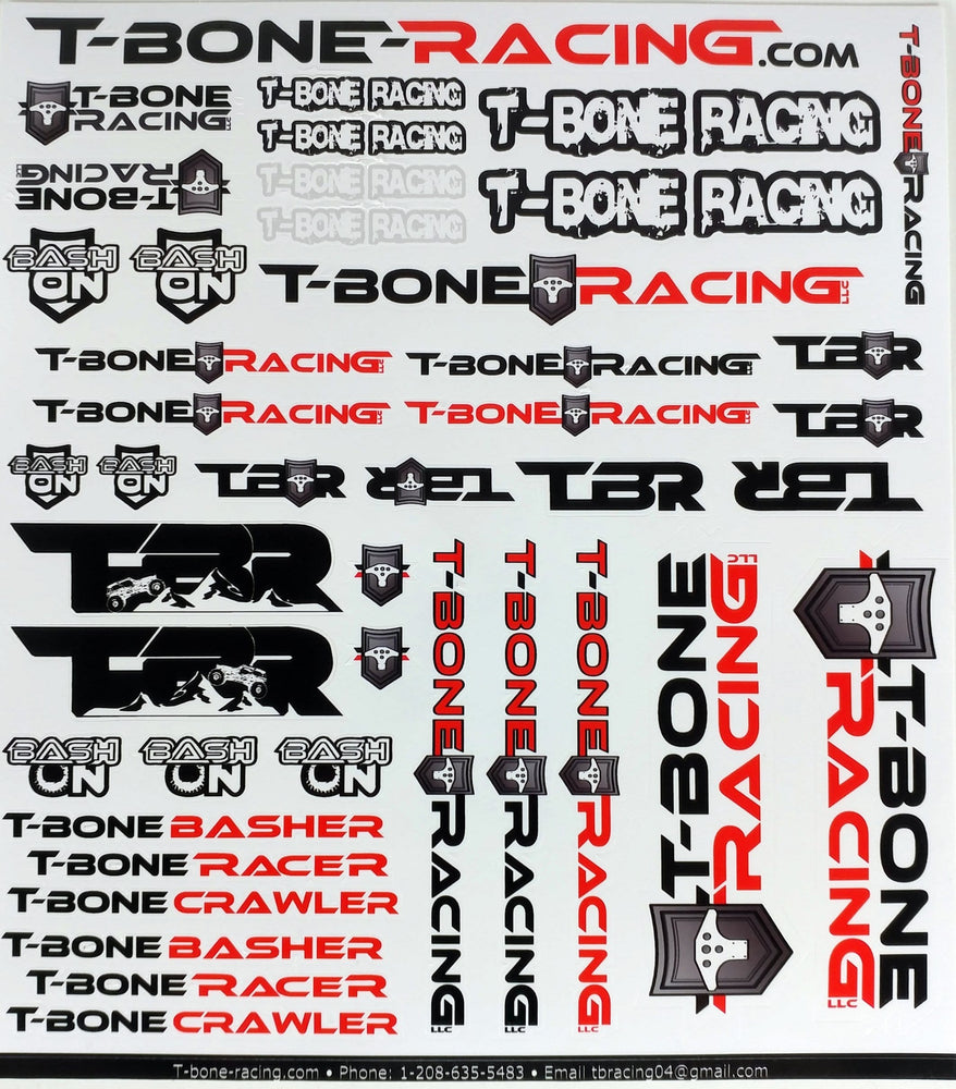 Team TBR's 2018 Sticker Sheet