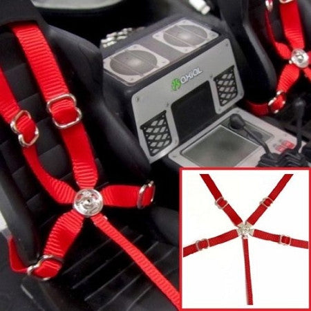 1/10 Drift / Crawler Scale Seat belt 5 Point Harness Set of 2 (Choose Color)