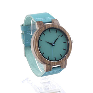 Blue Bamboo Wooden Watch