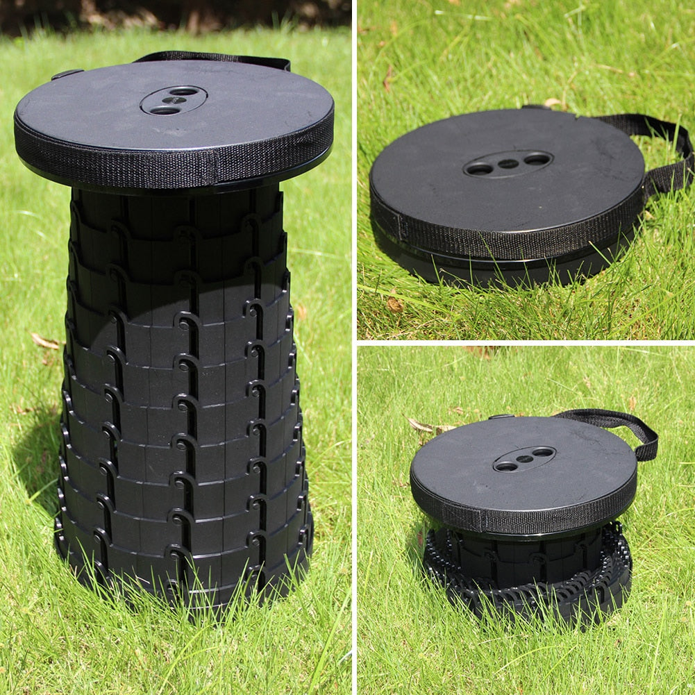 Retractable Folding Stool