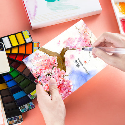 Portable WaterColor Paint Set