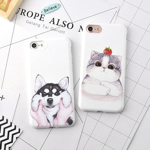 Cute Cat and Dog iPhone Case