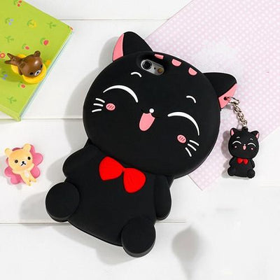 3D Cat Soft Silicon Case for iPhone