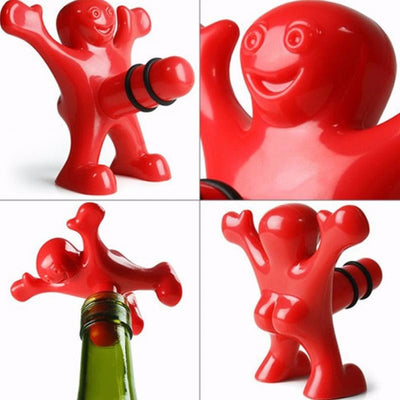 Funny Happy Man Bottle Cork