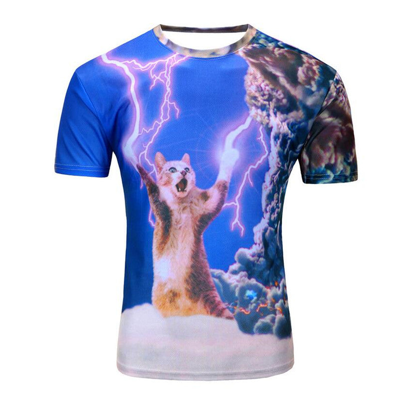 Fearless Kitty 3D T-Shirt For Women and Men
