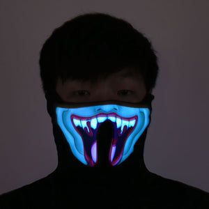Sound Activated LED Face Mask