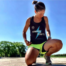 """Powered By Plants"" Ladies' Racerback Tank (Ideal Next Level)"