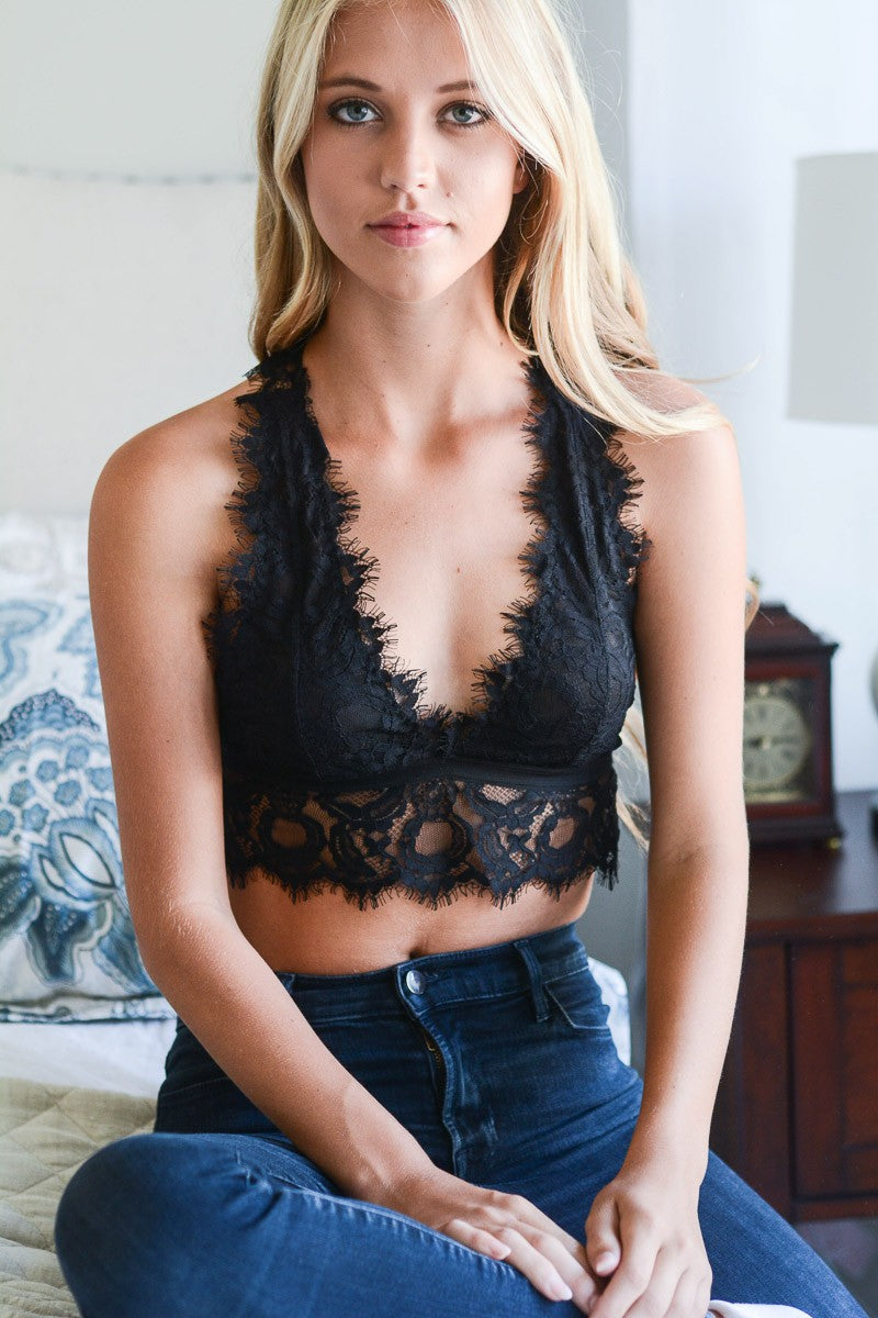 Eyelash Bralette - Black