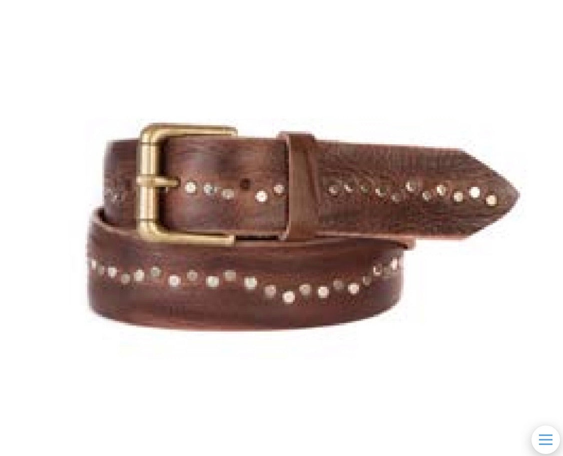 Brave Embellished Brown Belt