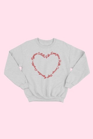 Inspirational Words Heart Sweatshirt