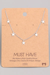 5 Star Silver Necklace