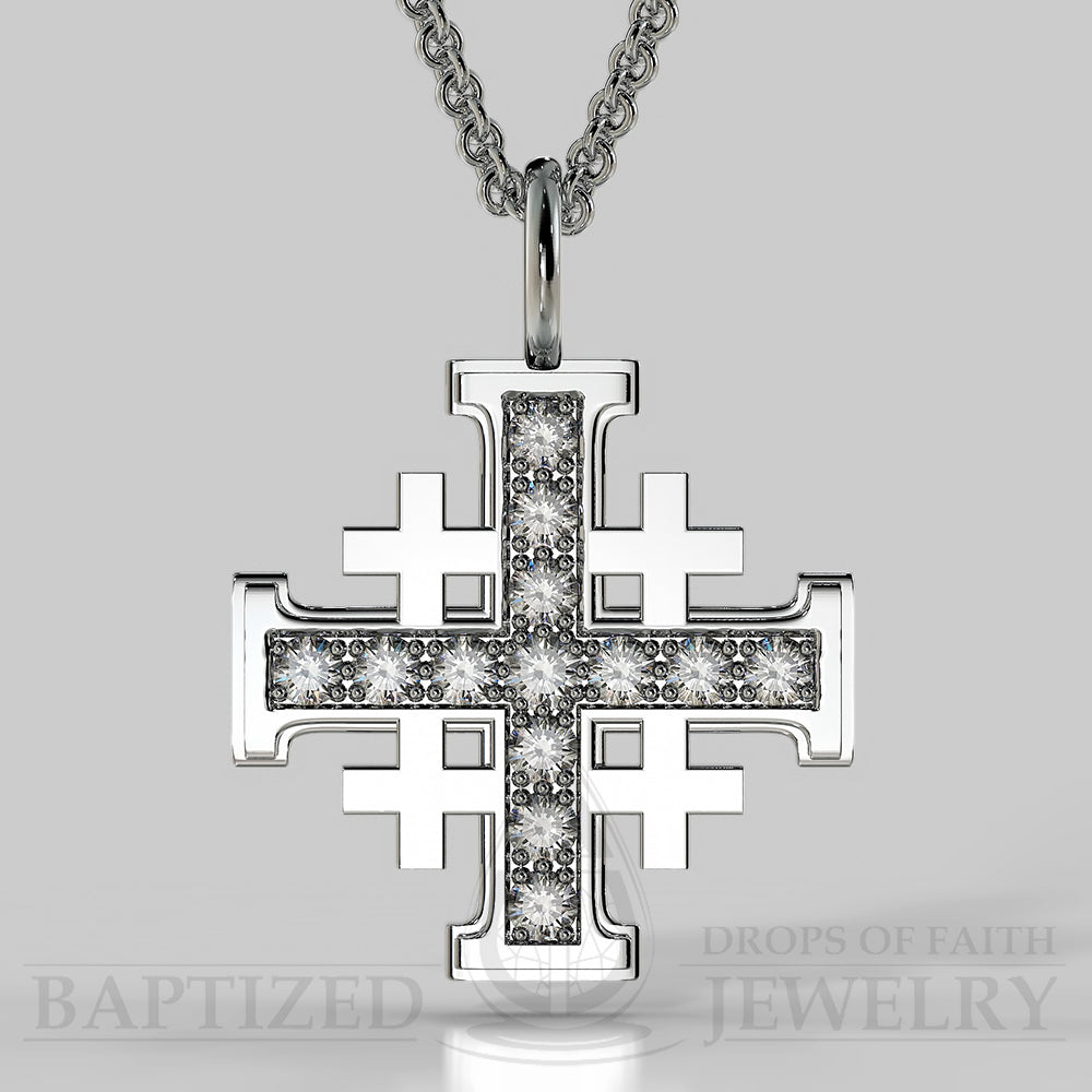 Natural diamond jerusalem cross pendant in 14k gold 05 ctw 14k natural diamond jerusalem cross pendant in 14k gold 05 ctw 14k white gold aloadofball Images