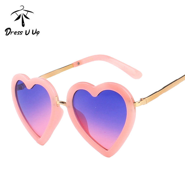 Love Heart Cute Vintage Children Sun Glasses UV400