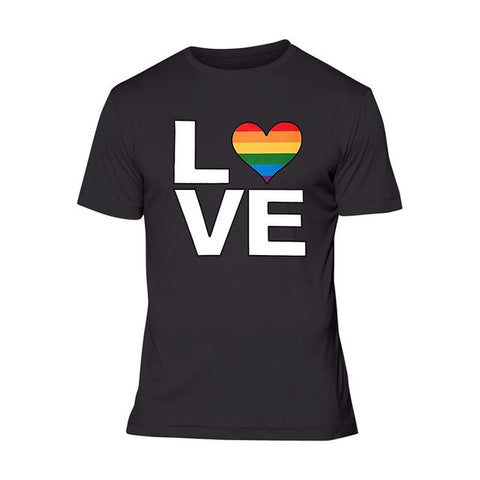 Love Rainbow Heart LGBT Pride