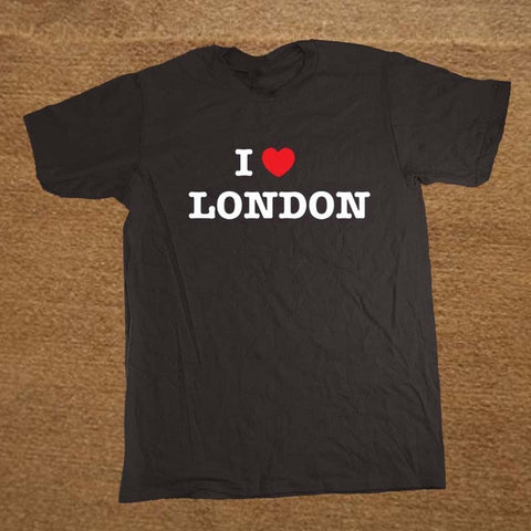 I Love London Heart Print Tshirt