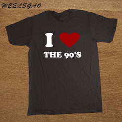 I Love The 90'S Heart Print Tshirt