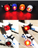 LED Waterproof Bicycle, Front Rear Helmet--Free Shipping