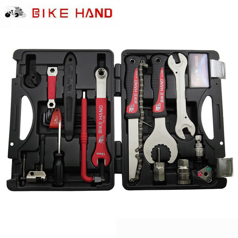 BIKEHAND 18 In 1 Multiful Bicycle Tools Kit Portable Bike Repair Tool Box Set Hex Key Wrench Remover Crank Puller Cycling Tools