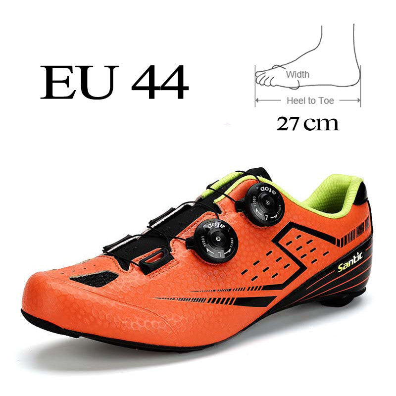 Santic Men Road Cycling Shoes 2017 Carbon Fiber Road Bike Shoes Self-Locking Athletic Bicycle Shoe Sneakers Sapatilha Ciclismo